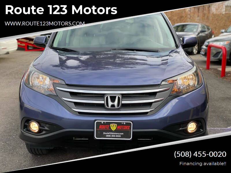 2013 Honda CR-V for sale at Route 123 Motors in Norton MA
