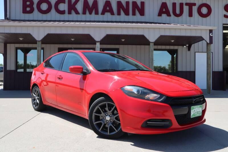 2016 Dodge Dart for sale at Bockmann Auto Sales in Saint Paul NE