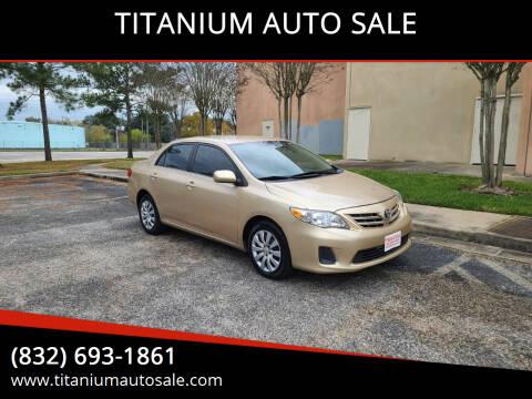 2013 Toyota Corolla for sale at TITANIUM AUTO SALE in Houston TX