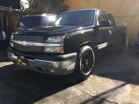 2004 Chevrolet Silverado 1500 for sale at MK Auto Wholesale in San Jose CA