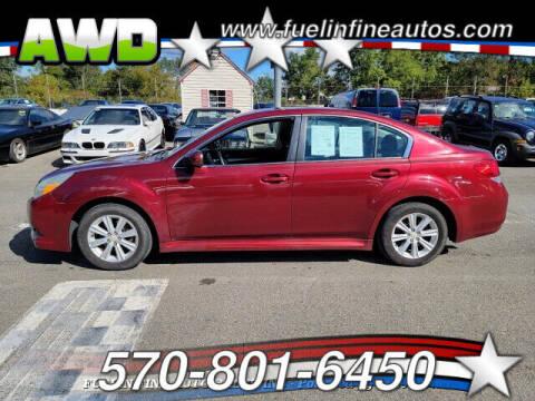 2010 Subaru Legacy for sale at FUELIN FINE AUTO SALES INC in Saylorsburg PA