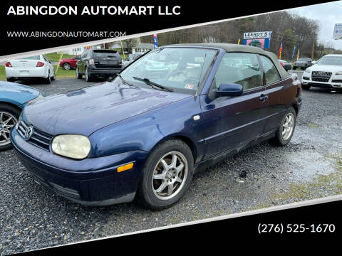 2002 Volkswagen Cabrio for sale at ABINGDON AUTOMART LLC in Abingdon VA