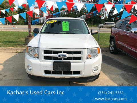 2012 Ford Escape Hybrid for sale at Kachar's Used Cars Inc in Monroe MI