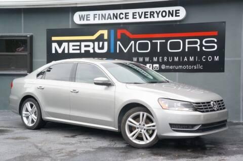 2014 Volkswagen Passat for sale at Meru Motors in Hollywood FL