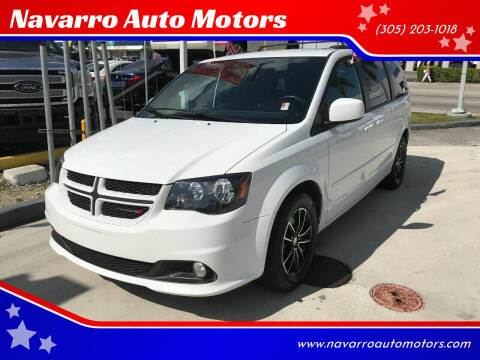2017 Dodge Grand Caravan for sale at Navarro Auto Motors in Hialeah FL