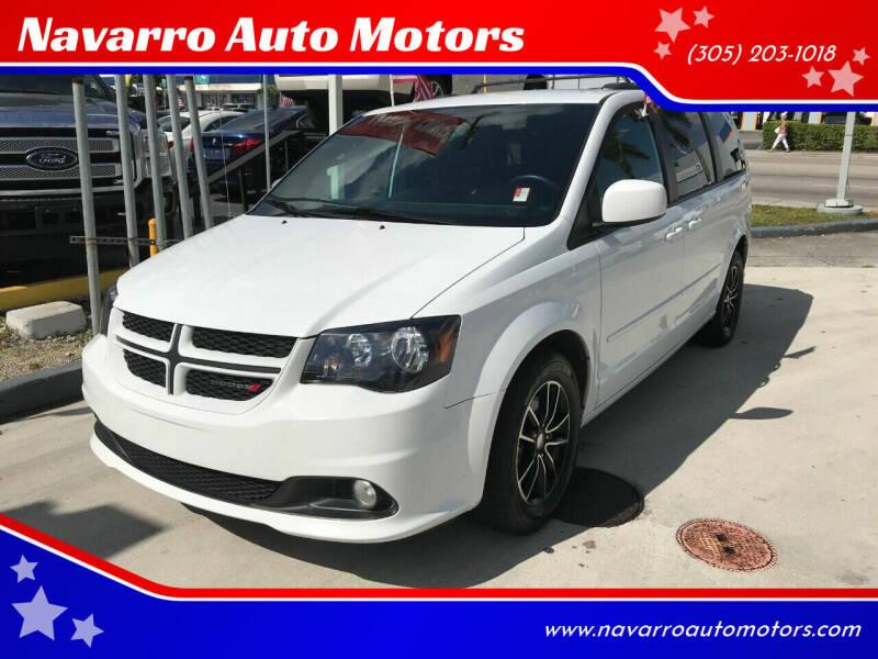 2017 Dodge Grand Caravan for sale at Navarro Auto Motors in Hialeah FL