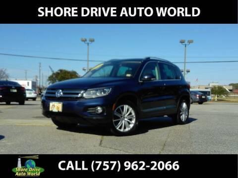 2016 Volkswagen Tiguan for sale at Shore Drive Auto World in Virginia Beach VA