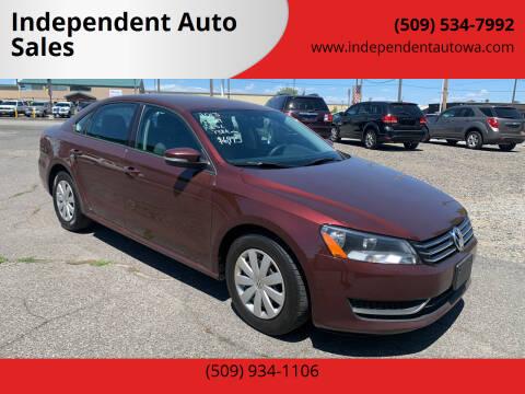2013 Volkswagen Passat for sale at Independent Auto Sales #2 in Spokane WA