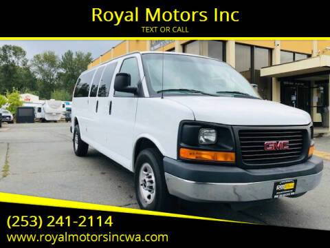 2016 GMC Savana Passenger for sale at Royal Motors Inc in Kent WA