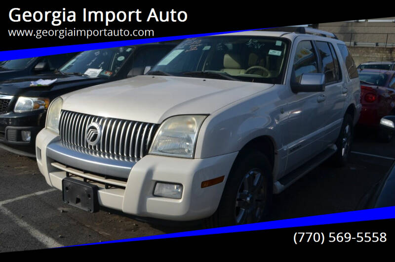 2008 Mercury Mountaineer for sale at Georgia Import Auto in Alpharetta GA
