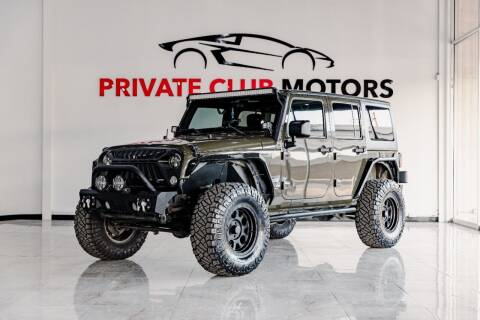 2015 Jeep Wrangler Unlimited for sale at Private Club Motors in Houston TX