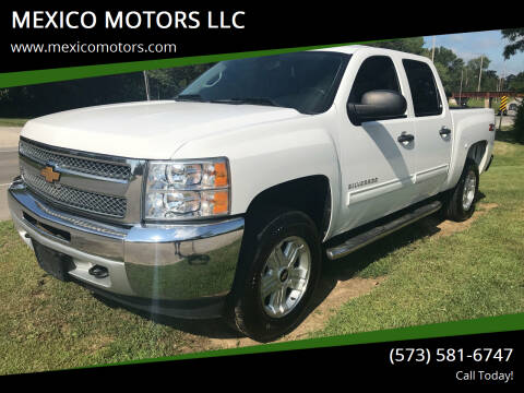 2013 Chevrolet Silverado 1500 for sale at MEXICO MOTORS LLC in Mexico MO