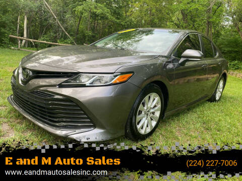 2018 Toyota Camry for sale at E and M Auto Sales in Elgin IL