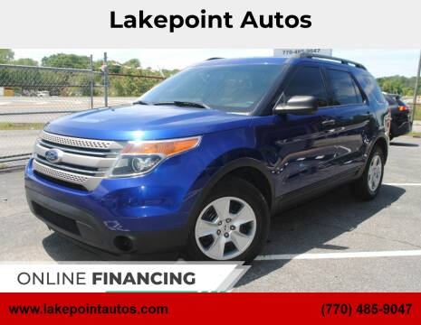 2014 Ford Explorer for sale at Lakepoint Autos in Cartersville GA