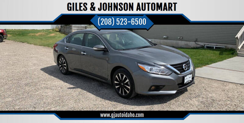 2018 Nissan Altima for sale at GILES & JOHNSON AUTOMART in Idaho Falls ID