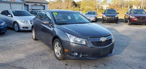 2011 Chevrolet Cruze for sale at Falmouth Auto Center in East Falmouth MA