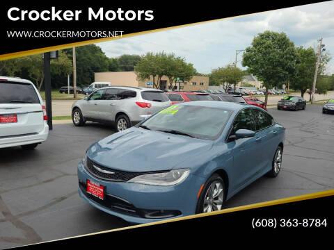 2015 Chrysler 200 for sale at Crocker Motors in Beloit WI