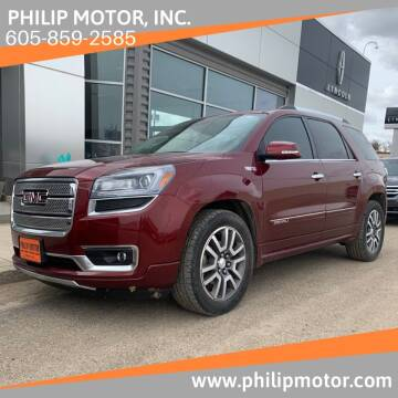 2015 GMC Acadia for sale at Philip Motor Inc in Philip SD