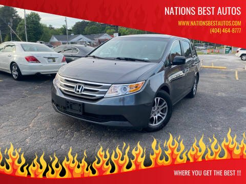 2012 Honda Odyssey for sale at Nations Best Autos in Decatur GA