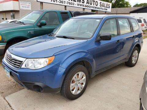 2010 Subaru Forester for sale at GOOD NEWS AUTO SALES in Fargo ND