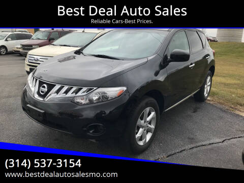 2010 Nissan Murano for sale at Best Deal Auto Sales in Saint Charles MO