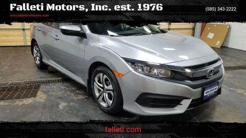 2018 Honda Civic for sale at Falleti Motors, Inc.  est. 1976 in Batavia NY