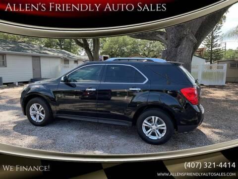 2011 Chevrolet Equinox for sale at Allen's Friendly Auto Sales in Sanford FL