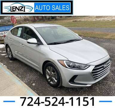 2018 Hyundai Elantra for sale at LENZI AUTO SALES in Sarver PA