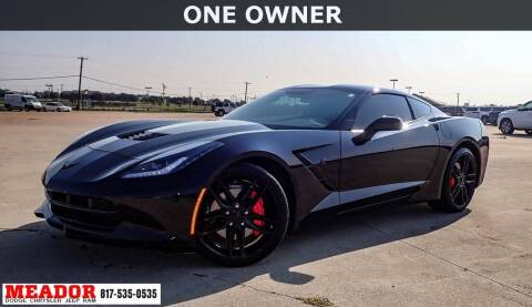 2019 Chevrolet Corvette for sale at Meador Dodge Chrysler Jeep RAM in Fort Worth TX