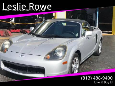 2001 Toyota MR2 Spyder for sale at RoMicco Cars and Trucks in Tampa FL