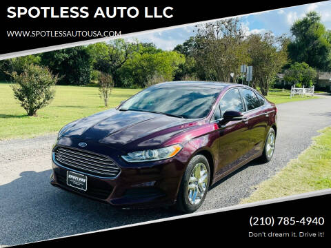 2013 Ford Fusion for sale at SPOTLESS AUTO LLC in San Antonio TX
