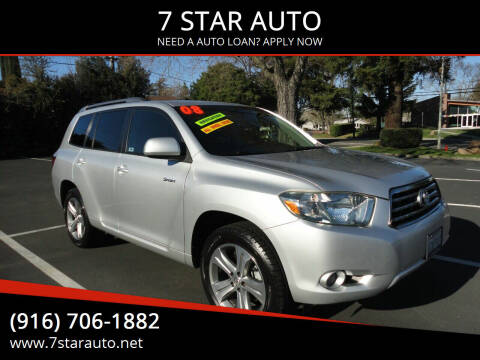 2008 Toyota Highlander for sale at 7 STAR AUTO in Sacramento CA