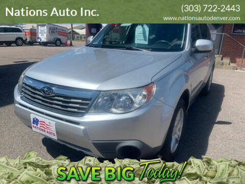 2009 Subaru Forester for sale at Nations Auto Inc. in Denver CO