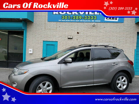 2009 Nissan Murano for sale at Cars Of Rockville in Rockville MD