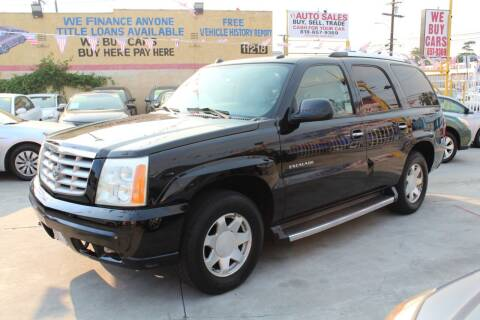 2005 Cadillac Escalade for sale at FJ Auto Sales in North Hollywood CA
