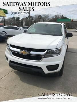 2016 Chevrolet Colorado for sale at Safeway Motors Sales in Laurinburg NC
