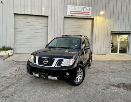 2011 Nissan Pathfinder for sale at CTN MOTORS in Houston TX