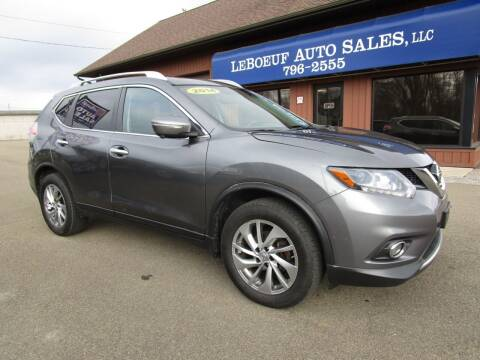 2014 Nissan Rogue for sale at LeBoeuf Auto Sales in Waterford PA