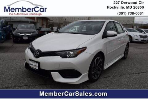 2016 Scion iM for sale at MemberCar in Rockville MD
