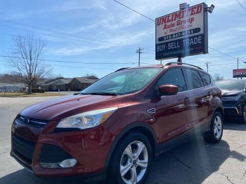 2015 Ford Escape for sale at Unlimited Auto Group in West Chester OH
