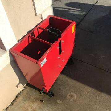 2020 MK MARTIN REAR FILLABLE WEIGHT BOX for sale at Hobby Tractors - Implements in Pleasant Grove UT