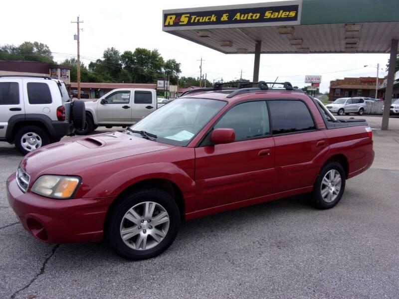 2005 Subaru Baja for sale at R & S TRUCK & AUTO SALES in Vinita OK
