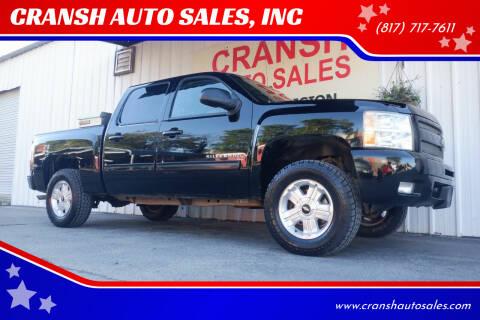 2011 Chevrolet Silverado 1500 for sale at CRANSH AUTO SALES, INC in Arlington TX