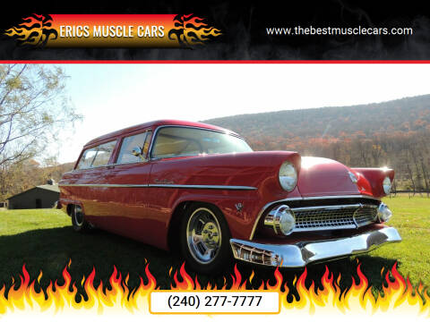 1955 Ford Ranch Wagon for sale at Erics Muscle Cars in Clarksburg MD