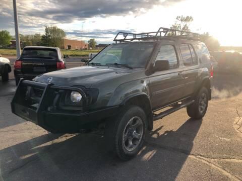 2003 Nissan Xterra for sale at BELOW BOOK AUTO SALES in Idaho Falls ID