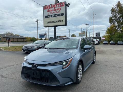 2020 Toyota Corolla for sale at Unlimited Auto Group in West Chester OH