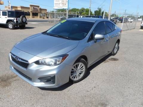 2017 Subaru Impreza for sale at AUGE'S SALES AND SERVICE in Belen NM
