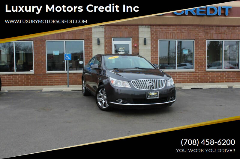 2012 Buick LaCrosse for sale at Luxury Motors Credit Inc in Bridgeview IL