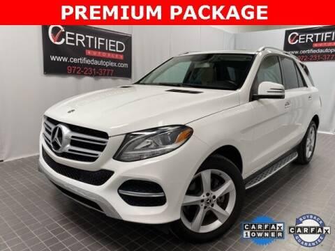 2018 Mercedes-Benz GLE for sale at CERTIFIED AUTOPLEX INC in Dallas TX