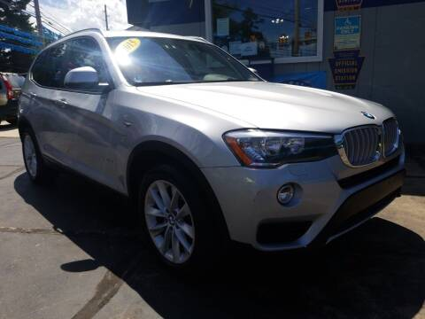 2015 BMW X3 for sale at Bizzarro`s Fleetwing Auto Sales in Erie PA